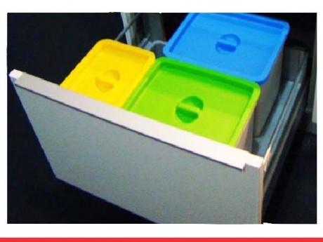 Sistema de cubos para cajones ecológicos