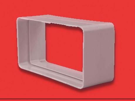 Empalme rectangular plano