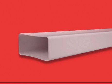 Tubo plano rectangular rígido