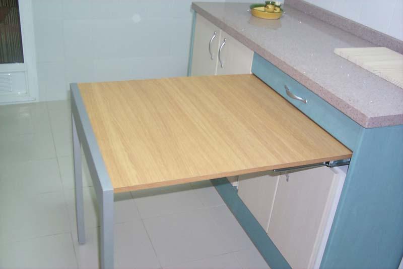 Mesa de cocina extraible induaho induaho - Mesa cocina con cajon ...