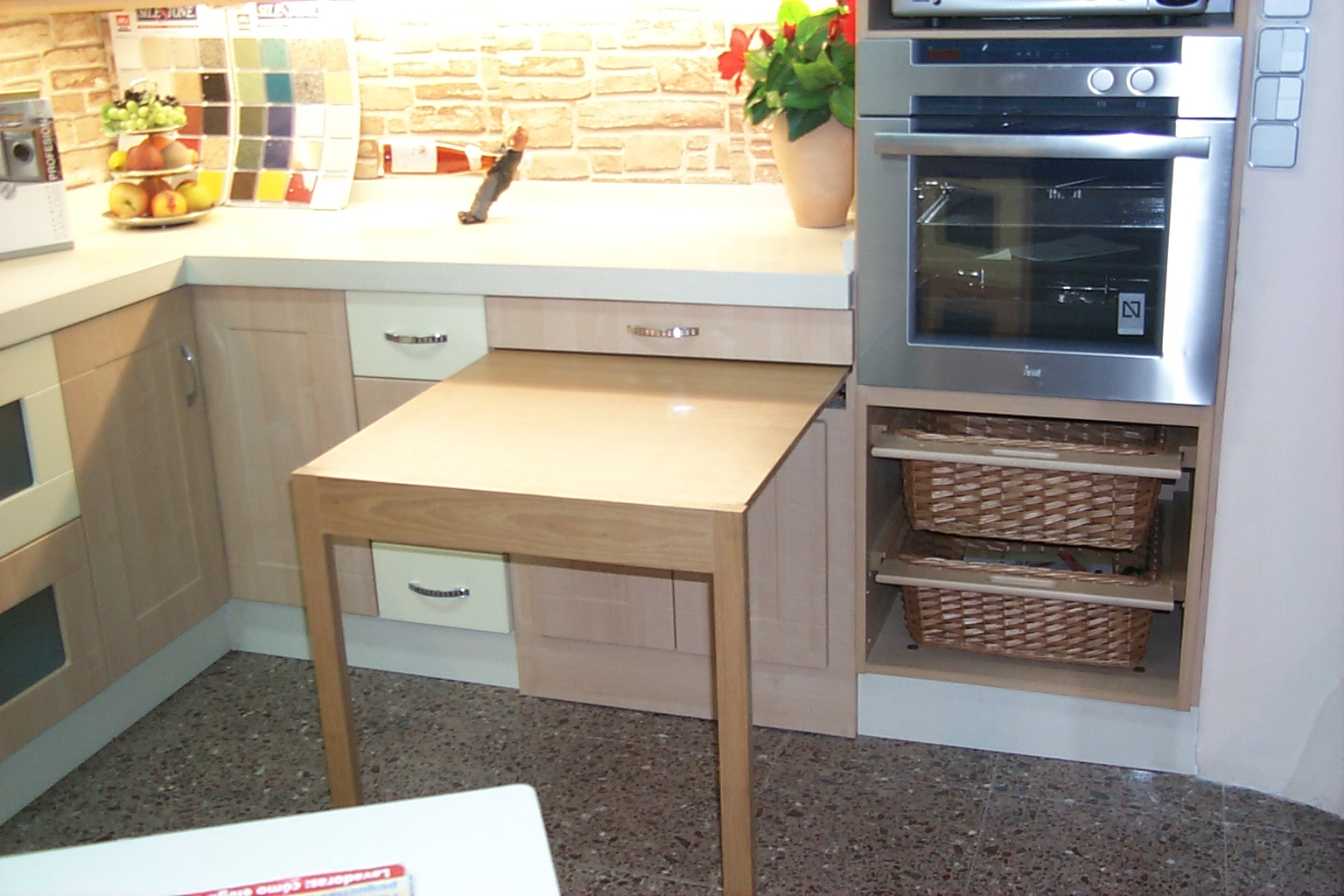 Mesa de cocina extraible induaho induaho - Mesas auxiliares para cocina ...
